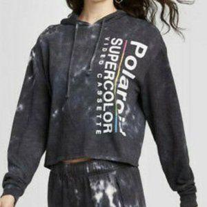 Polaroid Supercolor Tie Dye Crop Hoodie XL